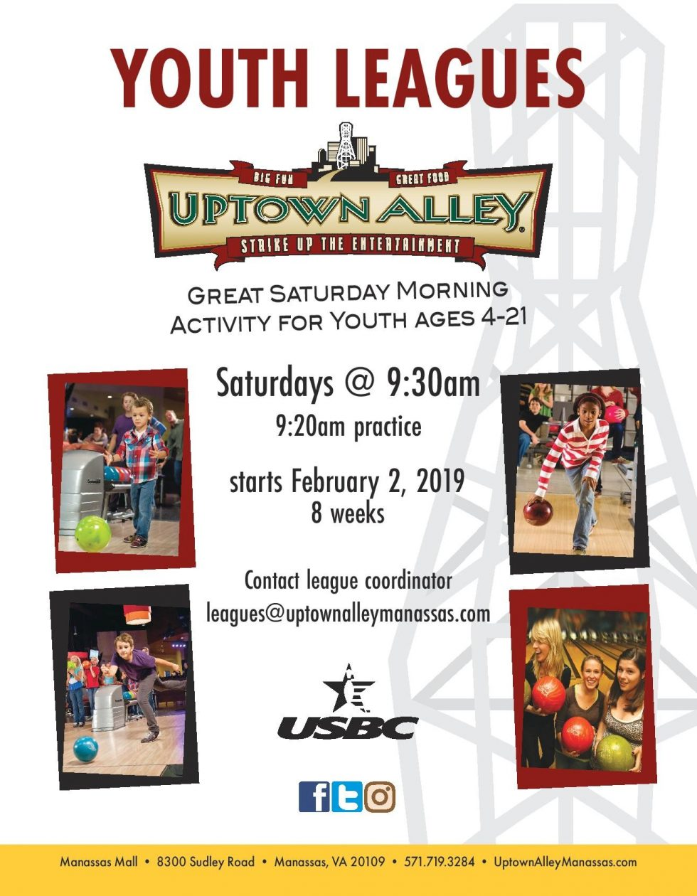 Uptown Alley Youth Leagues