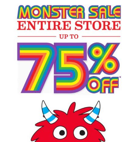 Monster Sale Upto 75 off