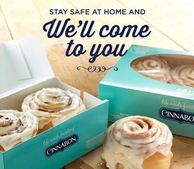 Stay Safe at Home Cinnabon Image