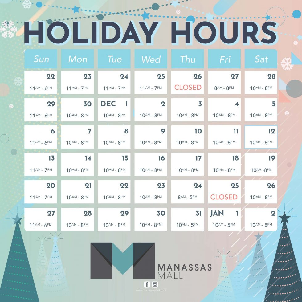 Holiday Hours Cling