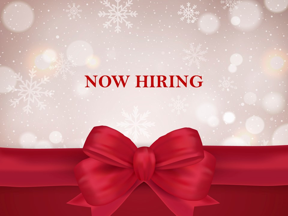 Now Hiring Holiday Template 5